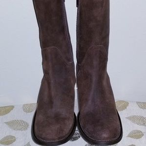 Kenneth Cole Brown Suede Mid Calf Boot